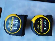 2 brand new Stanley FATMAX 8M tape measures