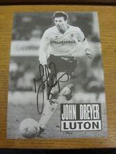 1990/1991 Revista Foto Autografiada: Luton Town-bobfrankandel Dreyer, John.