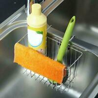 Stainless Steel Kitchen Sink Sponge Holder Brush Soap Storage Rack Basket P8S3
