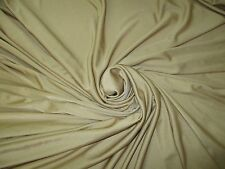"Vintage Stretch Polyester Lycra Spandex Fabric Sand 2.3 Yds x 60""W"