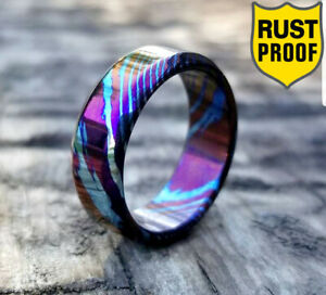 Minimalist Timascus Band for Men Affordable Timascus Ring