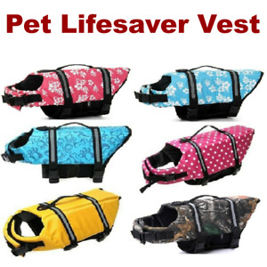 Pet Swimming Safety Vest Dog Life Jacket Reflective Stripe Preserver Puppy Coat