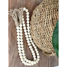 Wooden Bead Garland With Tassels Farmhouse Beads Country Style Wedding Decor CB