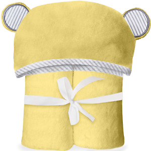 """Bamboo Hooded Towel for Kids & Babies – Soft, Thick, Absorbent 35""""x35"""" Bear Ears"""