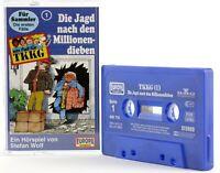 TKKG 1 Die Jagd nach den Millionendieben Hörspiel neue Musik blau Kassette MC