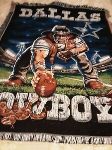 "NFL Dallas Cowboys 47x60"" cotton throw"