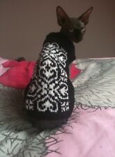 Sphynx cat clothes, hand knitted, cat sweater, sphynx top. Sphynx cat.