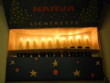 Alte Narva Lichterkette 10tlg DDR Christbaumbeleuchtung Kerzen Weihnachtsbaum 13