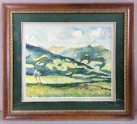 VOMPERBERG/TIROL AUSTRIA__Framed Original Watercolor__Dated 1935__ExC_SHIPS FREE