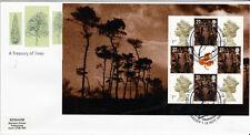 18 SETTEMBRE 2000 A tesoro di alberi RIQUADRO COMPLETO 4 Royal mail FDC Cardiff SHS (A)