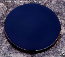 """Black Obsidian Scrying Divination Mirror 4"""" Diameter - Witchcraft Pagan Wicca"""