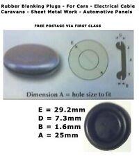 """25mm 1"""" - Snap-in de goma 10 Piezas Enchufe de bloqueo de espacios vacíos cuerpo agujero desagües Tapón Ojales"""