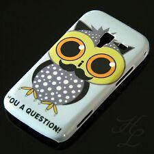 Samsung Galaxy ACE 2 / i8160 Hard Handy Case Schutz Hülle Etui Bart Eule Owl