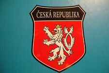 2x CESKA REPUBLIC CZECH  FLAG SHIELDS CAR WINDOW BUMPER  STICKERS  BIKE HELMET
