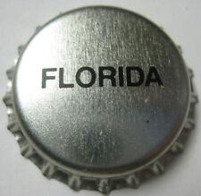 FLORIDA unused silver Beer CROWN, Bottle Cap, tax stamp cap, Pittsburgh Brewing