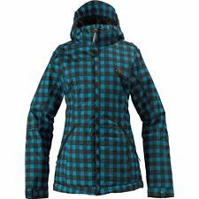 BURTON Women's MAN EATER Jacket - Size 1 - Argon Plaid - NWT