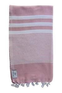 Plush Yarn Royale Peshtemal Turkish Made Bath / Beach Towel, 100% Authentic P...