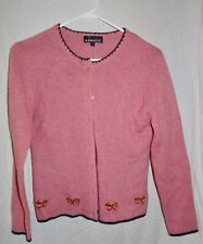 Kangol Pink 100% Wool Strawberry Cardigan SZ M