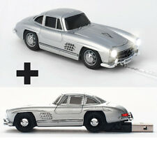 Click Car Mercedes 300SL Silver Wired Mouse with BONUS 4GB USB Memory Stick