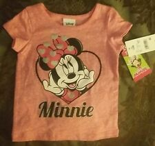 NEW Disney Minnie Mouse 3T Toddler Girl Pink T-Shirt Top~Valentine's Day