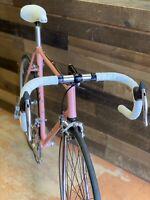 Racing Bicycle Faggin pink Campione del mondo edition.  56 cm Columbus tubing.