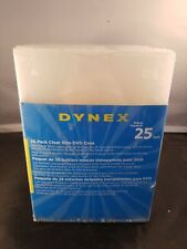Dynex DX-DVD25C Slim DVD Cases (Clear, 25 Pack)
