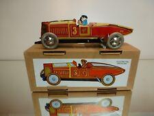 TIN TOY PAYA REPLICA VINTAGE CLASSIC RACE CAR #3 - RED L20.0cm - GOOD IN BOX