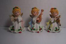 "Vintage Homco Christmas Angels # 5551, 5"" Tall Porcelain"