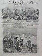 """LE MONDE ILLUSTRE 1859 N 108 SALON 1859- """" LE SALUT D'ADIEU """", DEVANT SEBASTOPOL"""