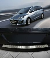 To Fits Mazda 5 II Cw 2010Up Chrome Rear Bumper Protector Scratch Guard S.Steel