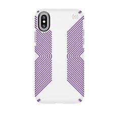 speck PRESIDIO GRIP Phone Case - Apple iPhone X - White/Purple