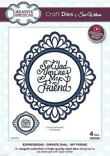 Creative Expressions Sue Wilson Die Ornate Oval - My Friend CED5420