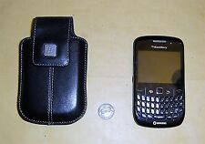 Black Blackberry Curve 8520 Smartphone c/w Carrying Case & Swivel Clip
