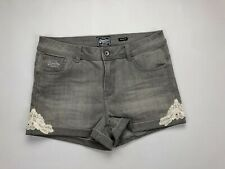 "Ladies Girls Superdry Hot Shorts Pant Shorts Soft Grey Flower W30/"" BNWT"
