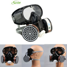 Respirator Gas Mask Safety Chemical Anti-Dust Filter Military Eye Goggle Set FA