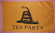 Tea Party Gadsden Don't Tread On Me Flag 3' x 5' Gun Right & Freedom Banner