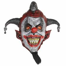 Adult Evil Psycho Jester Killer Circus Clown Latex Face Mask Carnival Accessory