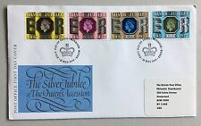 Uk Fdc cover 1977 Qeii Siver Jubilee with 4 values addressed to Usa