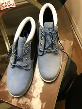 LimitedEditionTimberland Women's Size 8 Blue Chukka Ankle Boots Leather Suede
