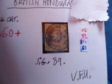 BRITISH HONDURAS 25c  KGV   SG.89 V.F.U POSTMARK