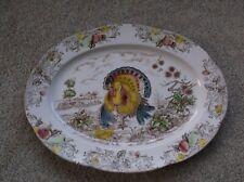 Large Vintage Tom Turkey Platter Transfer Ware Made In Japan