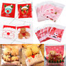 Christmas Cookie Candy Baking Self Adhesive Gift Packing Bags Decor Xmas Pouch