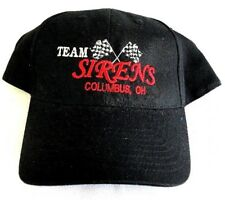 """Team Sirens"" Black Dad Trucker Round Bill Strap Back Cap Hat (D1)"