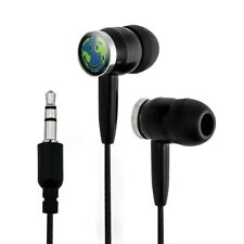 Smiley Smile World Earth Happy Face Novelty In-Ear Earbud Headphones