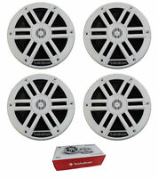 "Two Pair of Rockford Fosgate 6.5"" White 1000W 4 Ohm Marine 2Way Full Range M0-65"