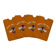 Save The Bees Honey Credit Card RFID Blocker Sleeves Set