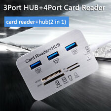High Speed 3 Port Usb 3.0 Multi Hub Splitter Expansion Desktop Pc Laptop Adapter