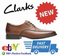 Clarks Tilden Walk Dark Tan men's leather shoes UK size 12 new Boxed RRP£79 (12