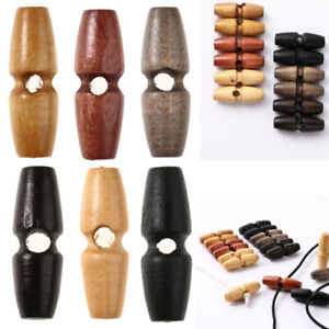 20 Wooden Olive Button Sewing Cotton Thread Buckle Imitation Horns Buckle Toggle