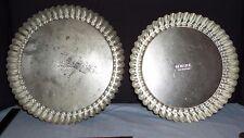 """2 Vintage 10"""" & 11"""" Dr. Oetker Germany Tin Fruit Tart Quiche Dessert Pan (K1016)"""